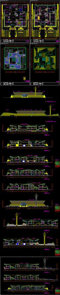 某博物馆新馆建筑CAD施工图带效果图