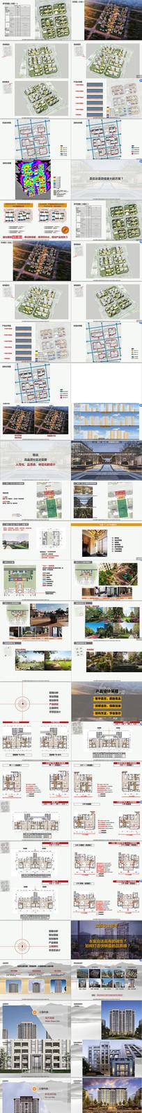 现代典雅洋房高层示范区投标中标PDF方案