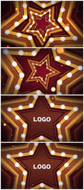 舞台五角星粒子logo视频模板