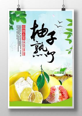 柚子熟了农民丰收节宣传海报