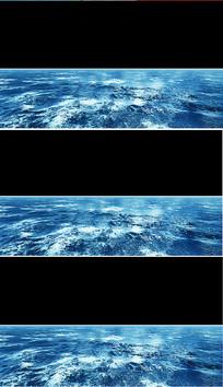 大气水面海面视频透明通道海面led视频素材