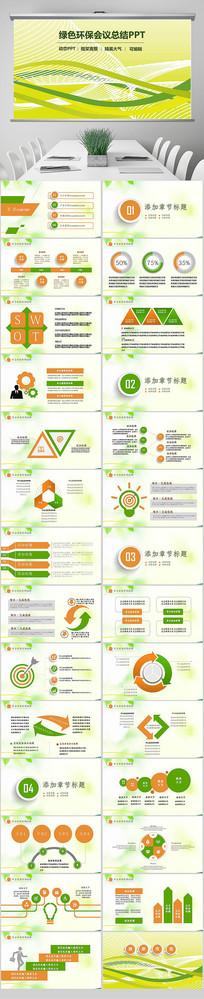 绿色生态文明建设工作总结汇报计划PPT