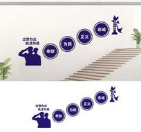 派出所楼梯文化墙标语