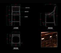 实木吧椅CAD吧椅CAD椅子CAD图库