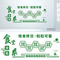 文明用餐厉行节约食堂文化墙设计