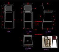 现代吧椅CAD图库CAD椅子