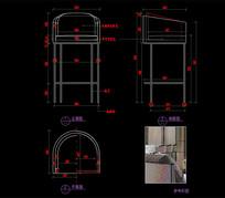 现代不锈钢脚架吧椅CAD吧椅餐椅CAD