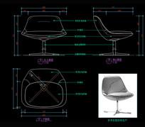 现代椅子CAD吧椅CAD图库