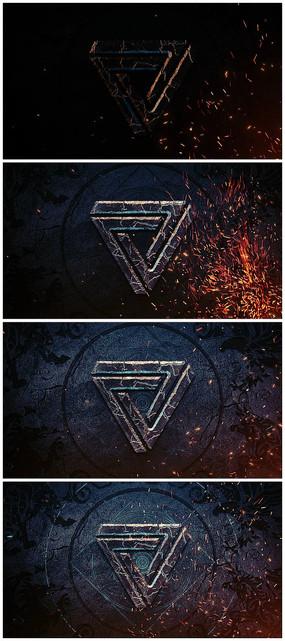 震撼复古电影片头logo视频模板