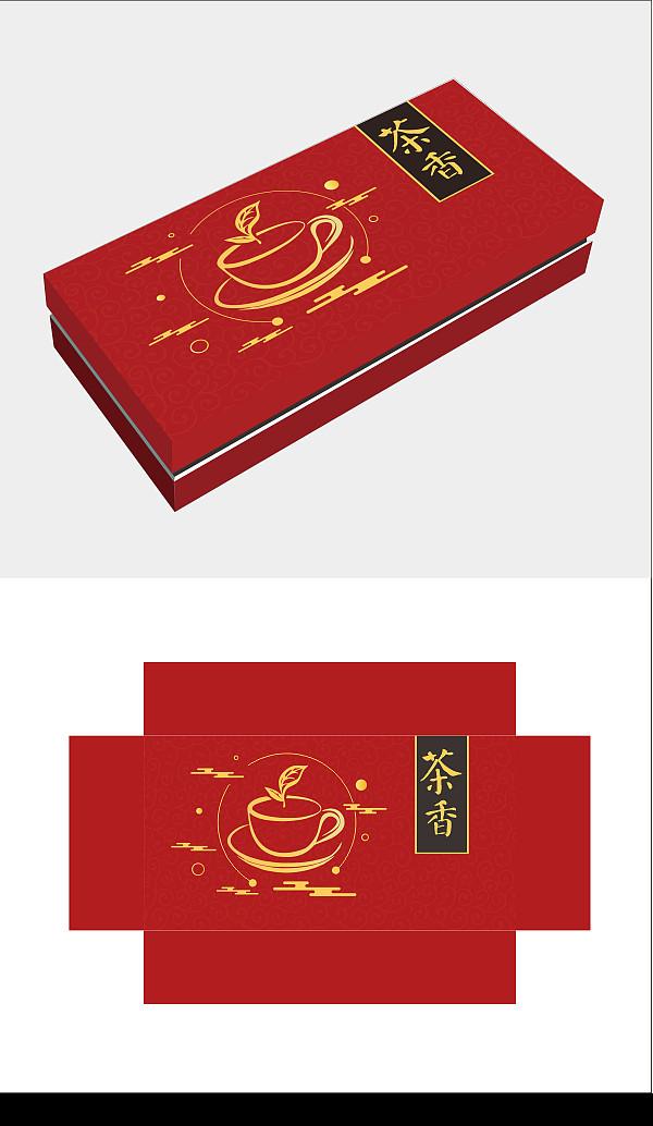 红色茶叶包装盒图片