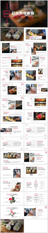 日式餐厅餐饮酒店日本料理寿司PPT模板