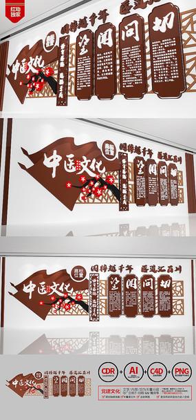 新中式望闻问切中医文化墙