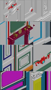 背景墙3D图