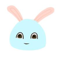 可爱月兔插画