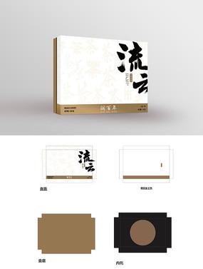 中国风大气普洱茶茶叶礼盒包装设计
