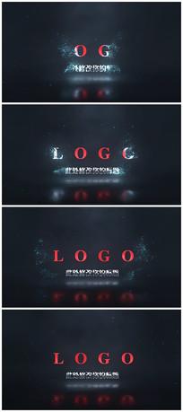 暗黑粒子呼出logo视频模板