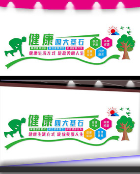 健康中国文化墙