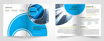 蓝色企业宣传册设计模版