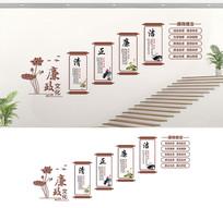 楼梯党风廉政文化建设展板