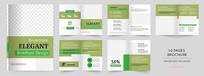 绿色企业画册设计模版