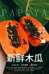 木瓜促销海报