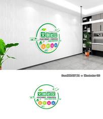 清新创意文明社区文化墙设计