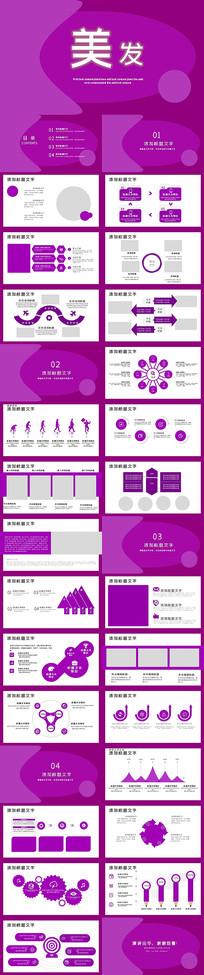 时尚美发行业创业计划书PPT模板