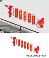 统一战线楼梯宣传文化墙