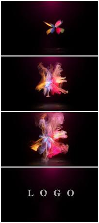 唯美彩色粒子爆炸出logo视频模板