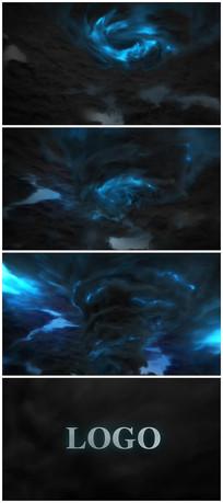 震撼闪电电流logo片头视频模板