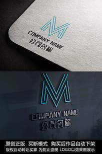 M字母logo标志字母商标设计