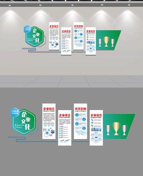 蓝色动感科技企业文化墙