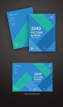 蓝色抽象企业封面设计