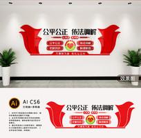 社区居委会调解室文化墙设计