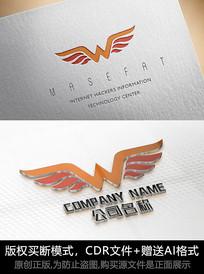 W字母logo标志字母商标设计