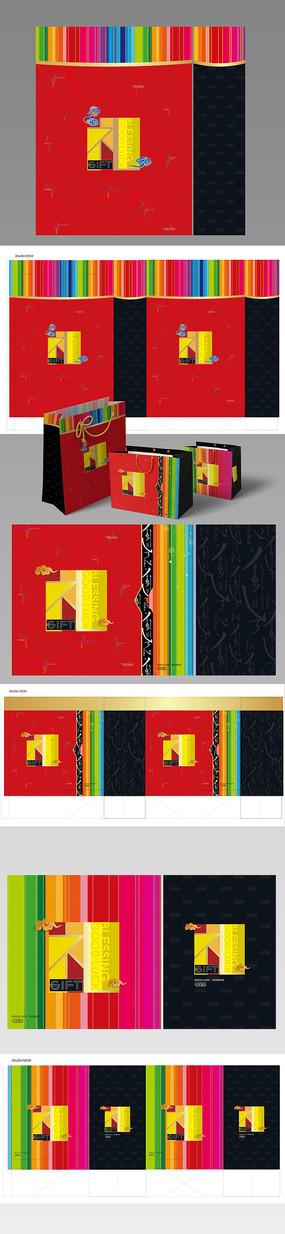 高端紅色禮品袋設計