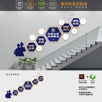 禁毒标语楼梯文化墙