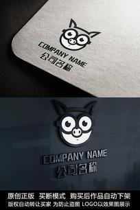 可爱小猪logo标志公司商标设计