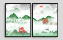 绿水青山室内装饰画