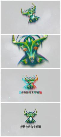 信号干扰色彩分离logo视频模板
