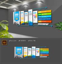 多彩企业文化墙宣传栏公司文化墙