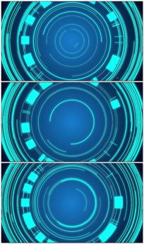 蓝色高科技圆环HUD图形科技背景视频素材