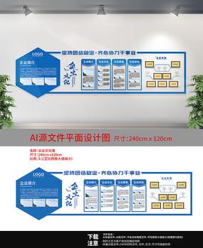 企业蓝色文化宣传墙