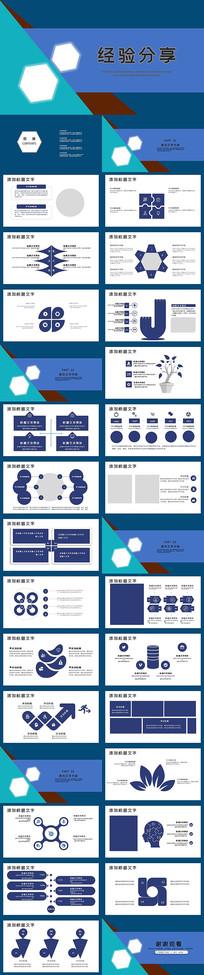 商务工作经验分享PPT模板