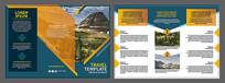 文化旅游景区三折页彩页设计模版