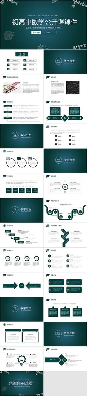 小清新初高中数学公开课教育课件PPT