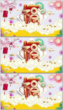中国风新年会舞台背景循环视频素材