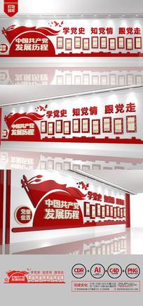 党的光辉历程历次党代会党建文化墙