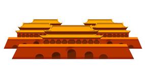 手绘中国风建筑