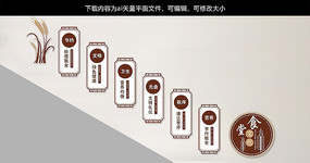 中国风校园食堂文化墙